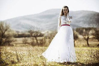 Šaty - Tylové s bodkami - 8018345_