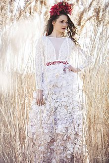 Šaty - Lupienkové s dlhým rukávom,,Focus wedding,, - 8018514_