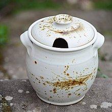 Nádoby - Velká dóza na med 1,2l - Vůně kávy - 8018173_