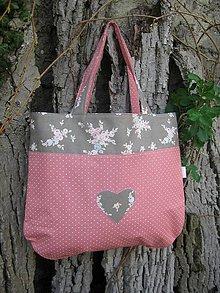 Nákupné tašky - taška 2v1 - staroružová - 8018779_