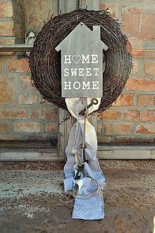 Dekorácie - Veniec...Domov sladký domov - 8014866_