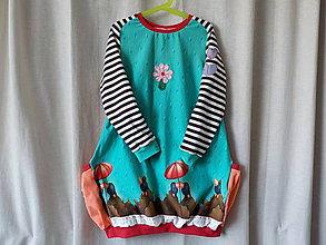 Detské oblečenie - Detské úpletové šaty - Medzi kvapkami - 8016453_