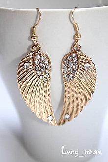 Náušnice - Anjelské krídla-zlaté :) - 8018074_