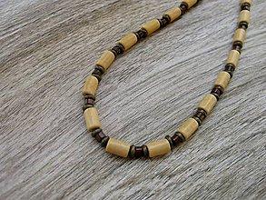 Šperky - Pánsky náhrdelník okolo krku drevený - 8015965_