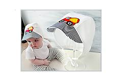 Detské čiapky - Baby čepiec auto - 8015595_