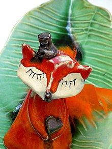Dekorácie - líška oranžová - 8016716_