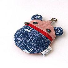 Kľúčenky - Kapsička na slúchadlá Zvieratko so zajačikmi - 8017264_