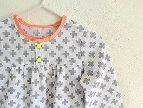 Detské oblečenie - košuľka Ruženka Šípkovie Scandi stajl - 8015938_