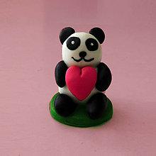 Hračky - Mini panda figúrka (so srdiečkom) - 8018516_