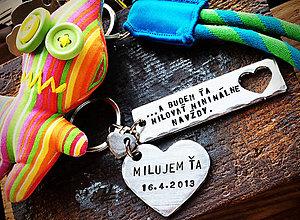 Kľúčenky - ... a budem Ťa milovať minimálne navždy - 8019271_
