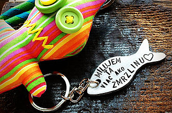 Kľúčenky - MILUJEM ŤA viac ako ZMRZLINU - 8019272_