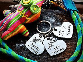 Kľúčenky - 3 SRDIENKA  - 8020878_