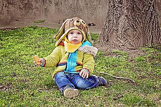Detské doplnky - Flísovo-bavlnené šatky - 8021362_