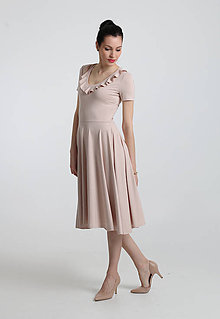 Šaty - Béžové - 8020307_