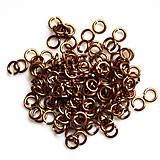 Komponenty - 4/1,2 100ks Hnědé - eloxovaný hliník - 8019835_