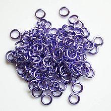 Komponenty - 4/1,2 100ks Světle fialové - eloxovaný hliník - 8019854_