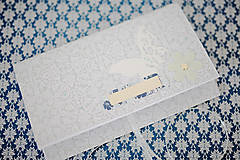 Papiernictvo - Scrapbook obálka na peniaze - strieborná - 8022259_