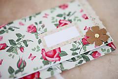Papiernictvo - Scrapbook svadobná obálka na peniaze - 8022302_
