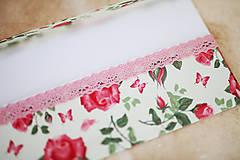 Papiernictvo - Scrapbook svadobná obálka na peniaze - 8022303_