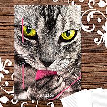 Papiernictvo - MADEBOOK kniha A5 - mačka - 8020601_