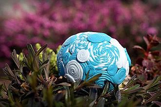Dekorácie - Tyrkysová kraslica - 8021308_