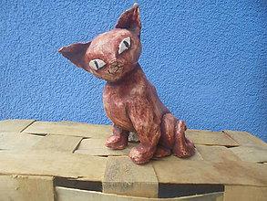 Dekorácie - Mačka -- keramika - 8019651_