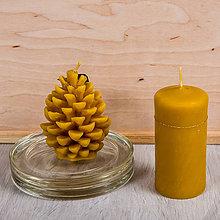Svietidlá a sviečky - Včelí kRAJ: Sviečka z včelieho vosku Valec / Šiška - 8021982_