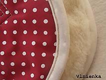 Textil - Univerzálna podložka 3 v 1 do kočíka/ autosedačky/ vaničky 100% MERINO Top celoročná obojstranná BODKA bordová - 8023487_