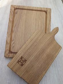 Pomôcky - Sada drevených dosiek na krájanie s rezbou - 8020685_