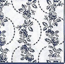 Papier - Servítka  G28- Fleur blue - 8021343_