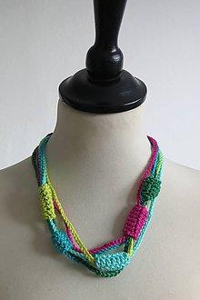 Náhrdelníky - náhrdelník .Multicolors - 8023445_