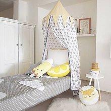 Textil - Žlto sivý baldachýn - 8020696_