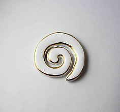 Odznaky/Brošne - Tana šperky - keramika/zlato - 8019581_