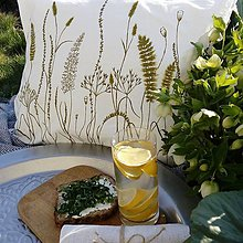 Úžitkový textil - Vankúš trávy - olivovo zelená - 8022893_