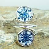 Prstene - Prsteň modrotlač - 8023138_