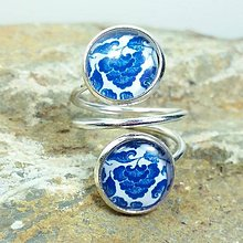 Prstene - Prsteň modrotlač - 8023159_