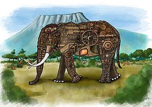 Kresby - Sloní anatómia - 8023190_