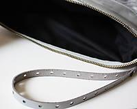 Kabelky - Koženo- kožušinová listová kabelka-SIVÁ - 8021904_