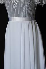 Šaty - Svadobné šaty s volánovými rukávmi - 8020167_