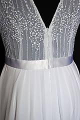 Šaty - Svadobné šaty s volánovými rukávmi - 8020169_