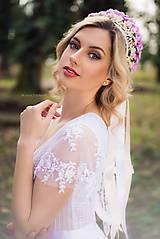 Šaty - Svadobné šaty s volánovými rukávmi - 8020181_