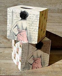 Krabičky - Box na vreckovky - 8019368_