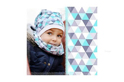 Jarná čiapka TRIANGLE MINT   lemge - SAShE.sk - Handmade Detské čiapky 7791364a1a5