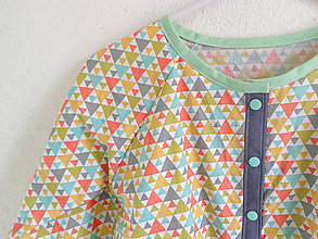 """Detské oblečenie - pyžamový vrch """"Geometrik """" - 8019293_"""