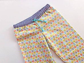 "Detské oblečenie - pyžamové nohavice ""Geometrik "" - 8019298_"