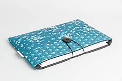 Papiernictvo - Obal na knihu - lastovičky (S - 26 x 17 cm) - 8023461_