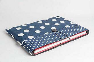 Papiernictvo - Obal na knihu - modrý guľôčkový - 8023361_