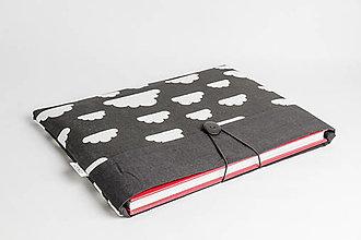 Papiernictvo - Obal na knihu - mraky (M (29 x 21 cm, atypický rozmer knihy)) - 8023402_