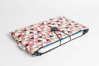 Papiernictvo - obal na knihu - triangles tehlový - 8023540_