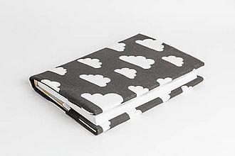 Papiernictvo - obal na knihu otvárací - mraky - 8023565_